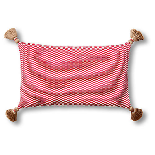 Ella 12x20 Pillow, Bright Rose