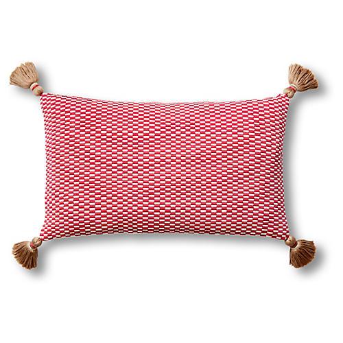Ella 12x20 Lumbar Pillow, Bright Rose