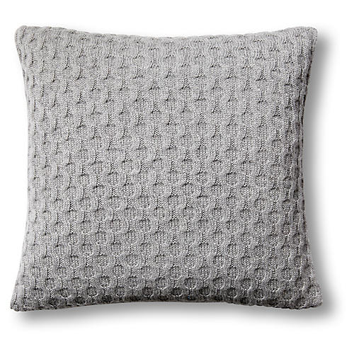 Theo 16x16 Pillow, Gray