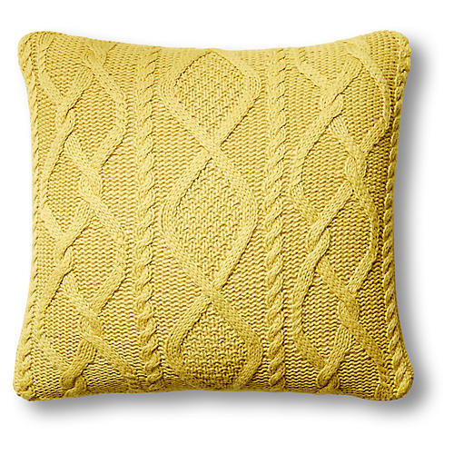 Chalet 24x24 Cable Pillow, Citrus
