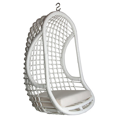 Troy Hanging Chair, White