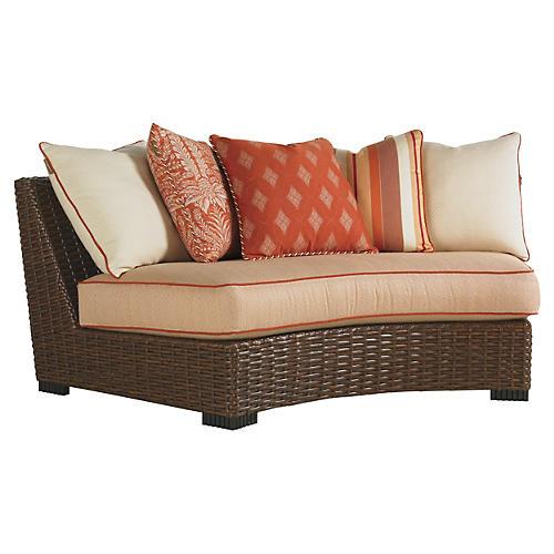 "Pacifica 86"" Armless Curve Sofa"