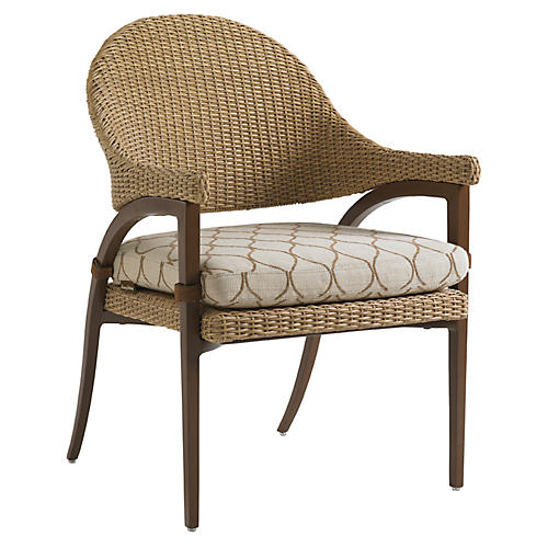 Aviano Outdoor Armchair, Beige Sunbrella