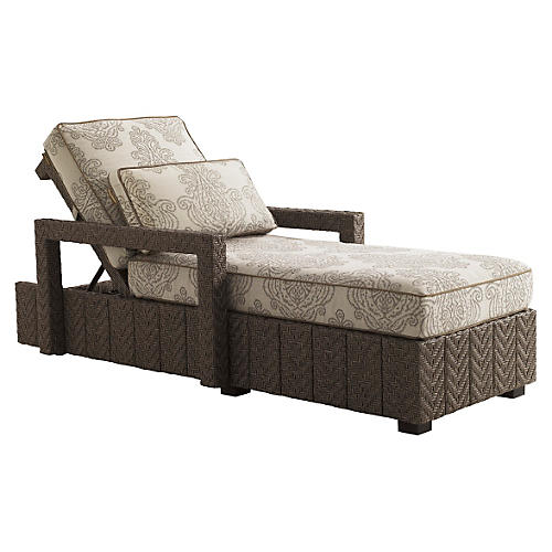 Olive Chaise Lounge, Taupe