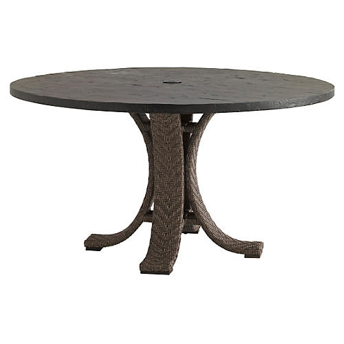 """Olive 30"""" Round Dining Table, Walnut"""