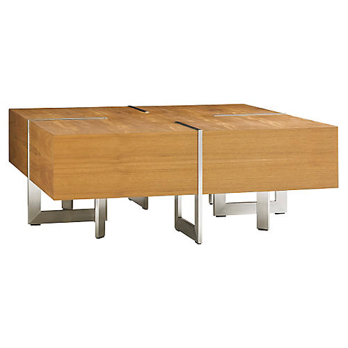 Tres Chic Square Cocktail Table