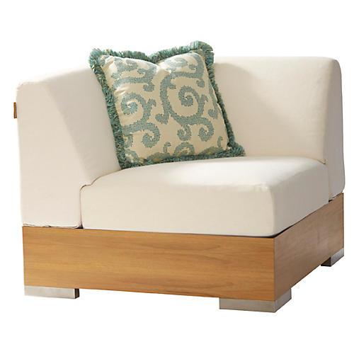 Tres Chic Corner Chair, Ivory