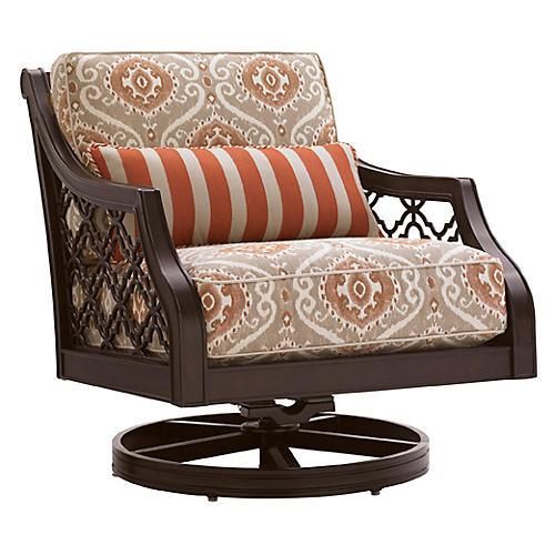 Black Sands Swivel Rocker Chair, Beige