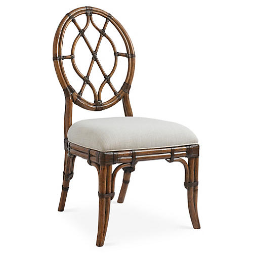Cedar Key Oval-Back Side Chair, Ivory