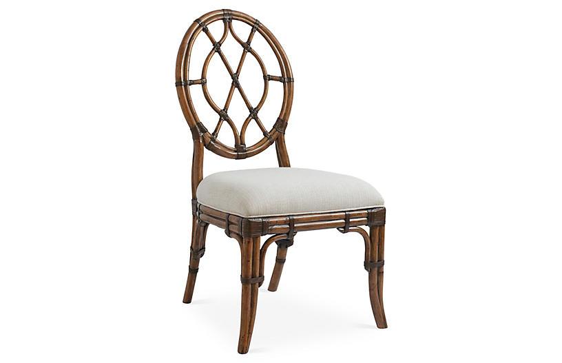 Cedar Key Oval-Back Side Chair, Ivory