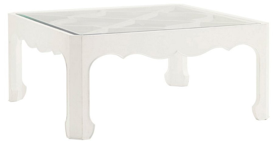Cava 42 Square Coffee Table White Tables Living Room Furniture One Kings Lane