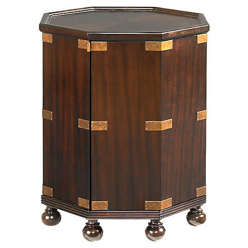 Pacific Campaign Side Table, Coffee