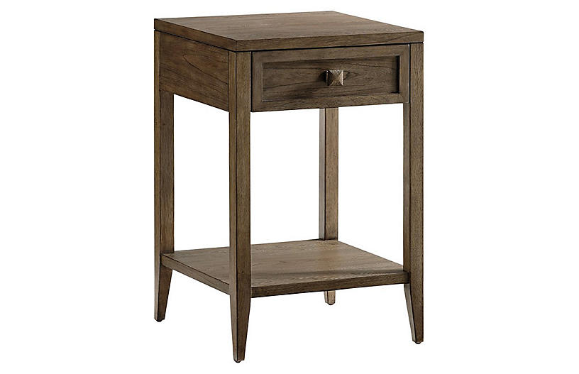 Ellis Nightstand, Driftwood Gray