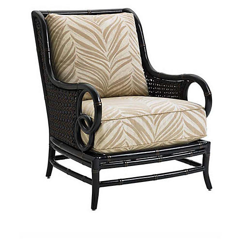 Marimba Outdoor Accent Chair, Gold Sunbrella