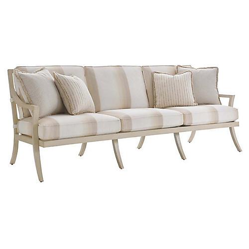 Misty Garden Sofa, Ivory Sunbrella