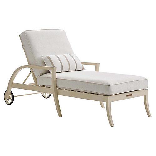 Misty Garden Chaise, Ivory Sunbrella