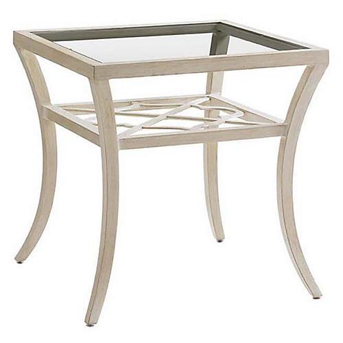 Misty Glass Side Table, Umber