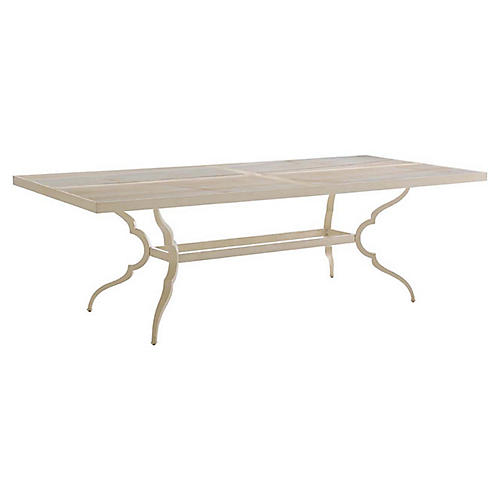Misty Garden Dining Table, Umber/Ivory
