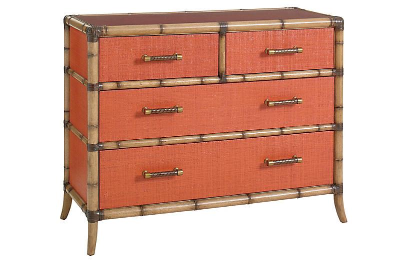 Coral Dresser, Red