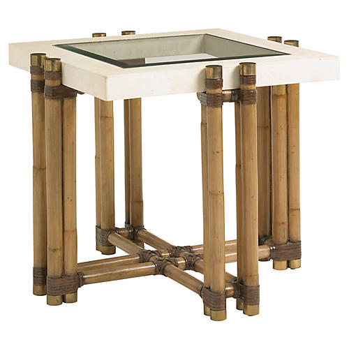 Los Cabos Side Table, Warm Umber