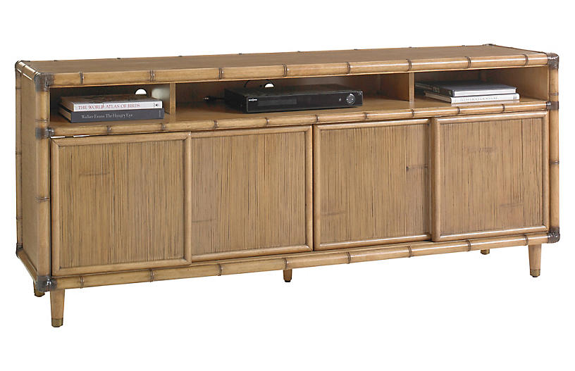 Sea Crest Media Console, Warm Umber