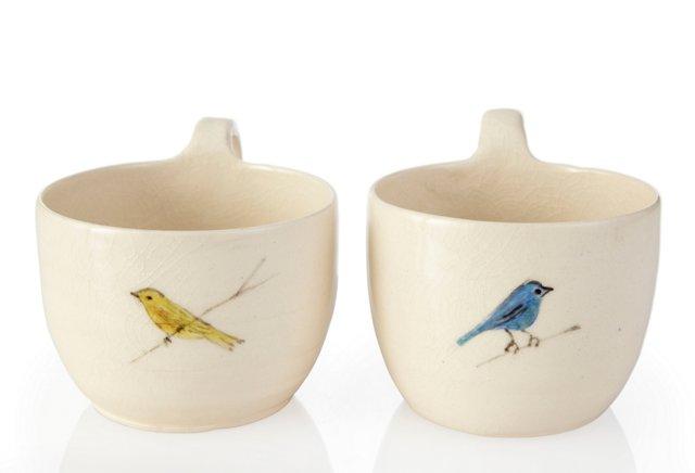 Birds Cups, Pair