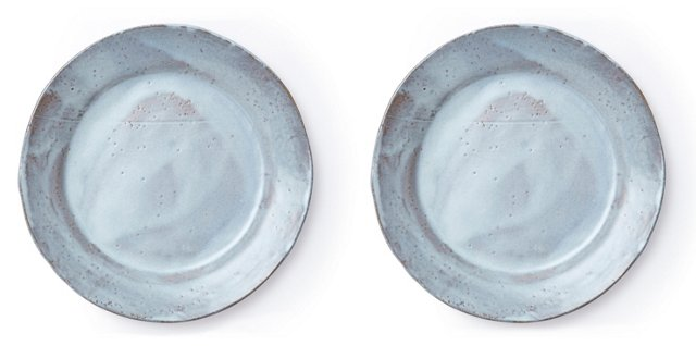 Stone White Salad Plates, Pair