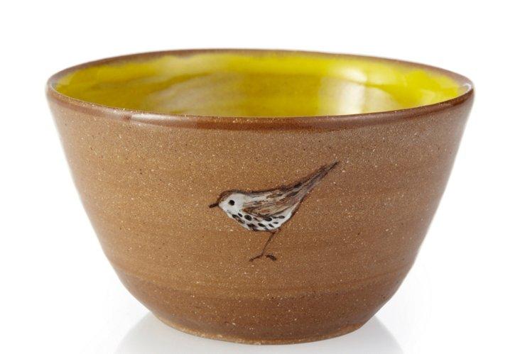 Bird Dessert Bowl, Yellow