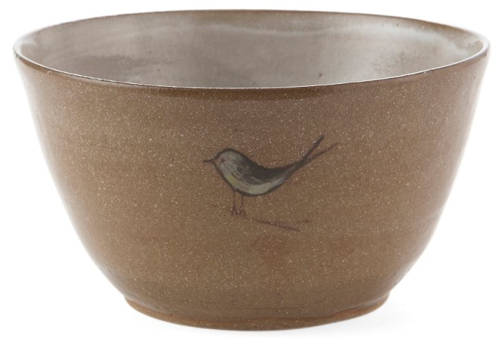Bird Dessert Bowl, White