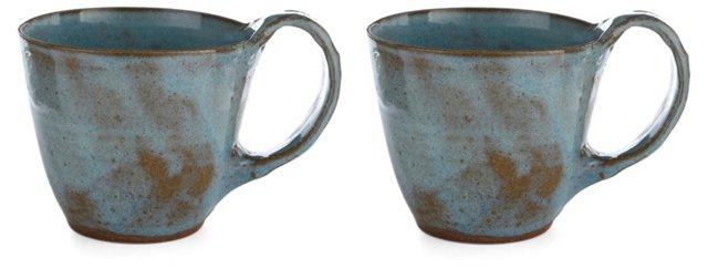 Aqua Latte Cups, Set of 2