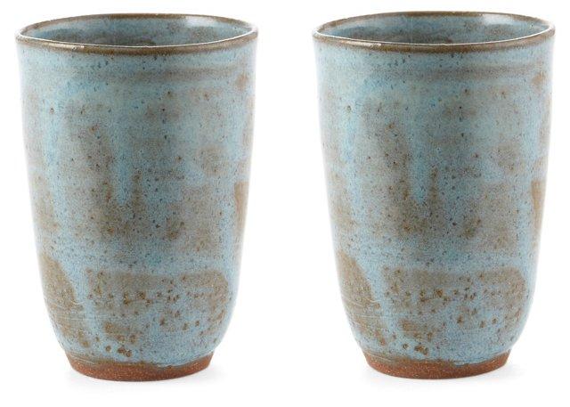 Aqua Tumblers, Set of 2