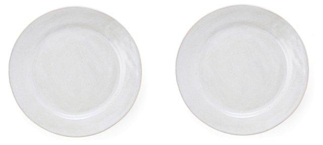White Salad Plates, Set of 2