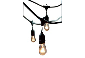 Brooklyn Outdoor String Lights, Black