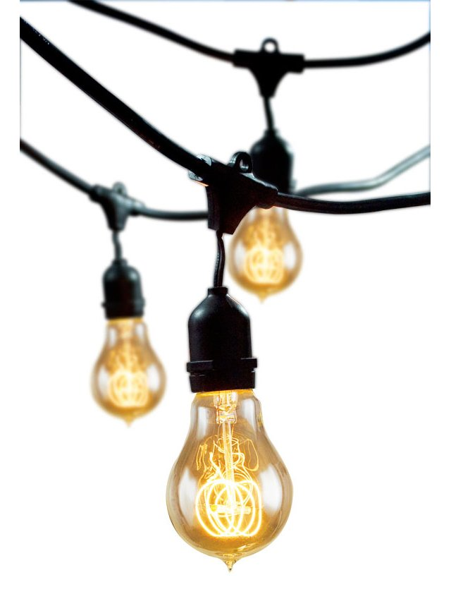 Nostalgic Outdoor String Lights, Black