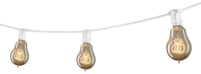 Austin Outdoor String Lights, White
