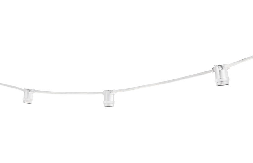 Austin Outdoor String Lights, White