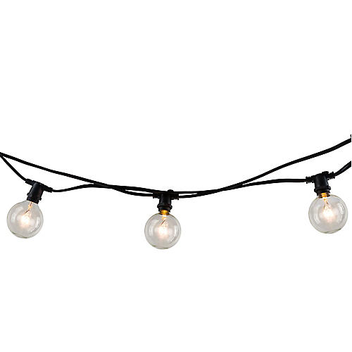 "168"" Circular Bulb String Lights, Yellow"