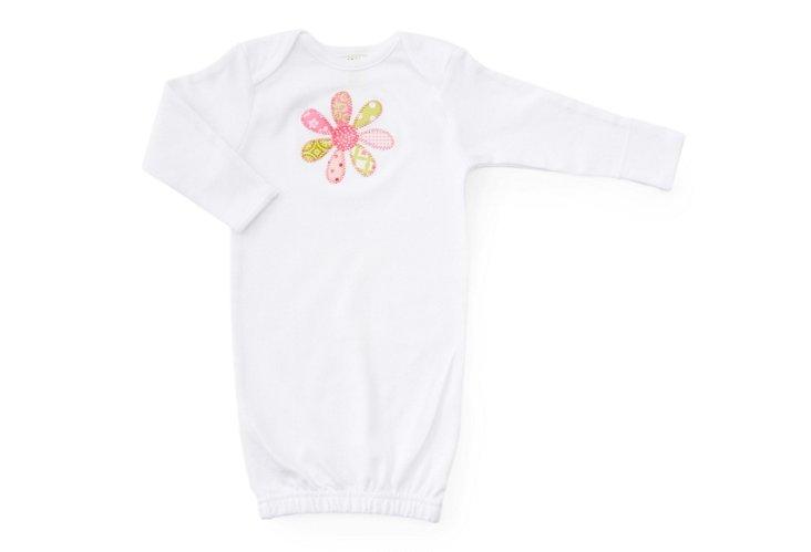Funky Flower Newborn Gown