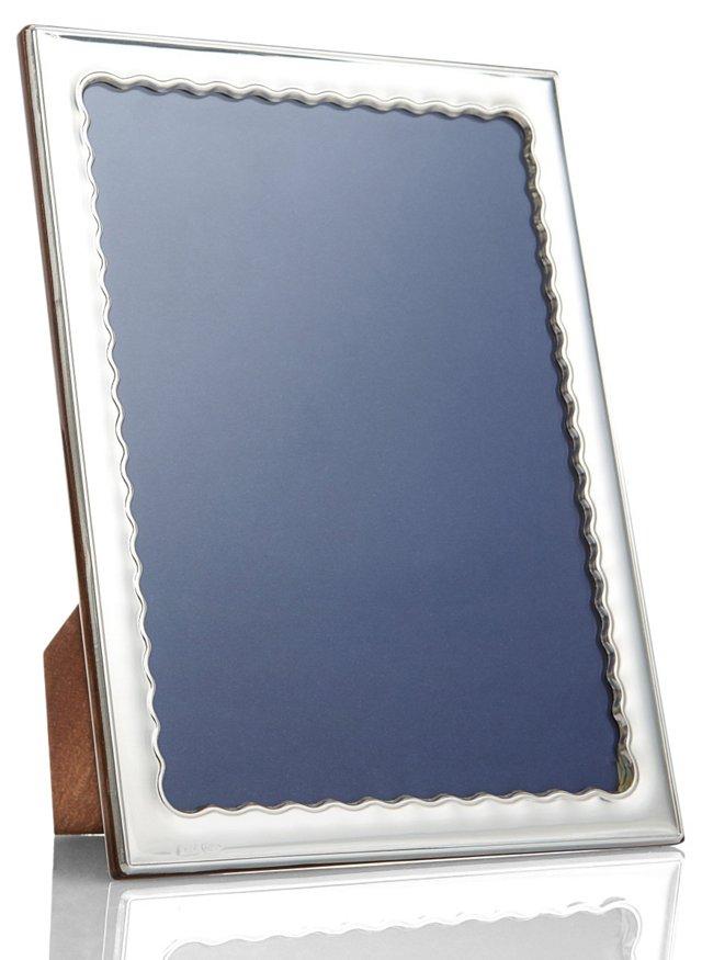 Sterling-Silver Wavy Frame, 5x7