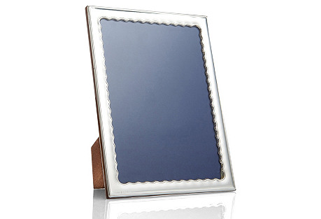 Sterling-Silver Wavy Frame