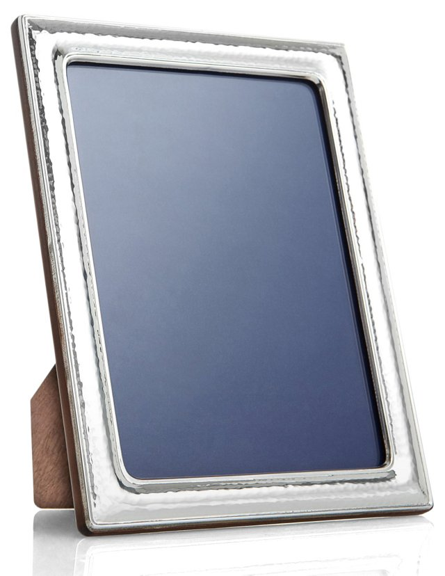 Sterling Silver Hammered Frame,  8x10