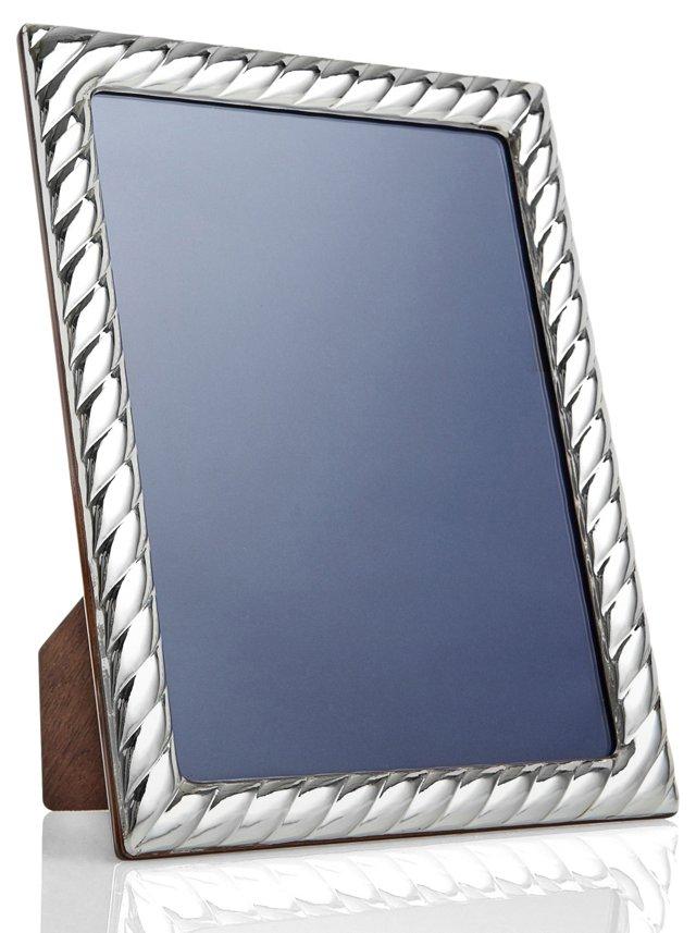 Sterling-Silver Swirl Frame, 5x7