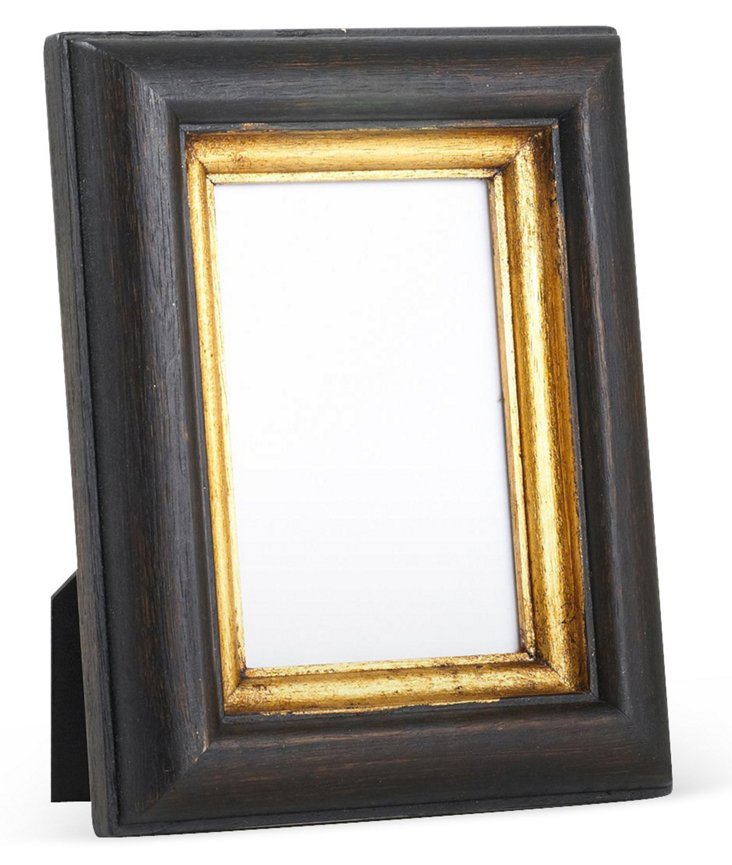 Carved Wood Frame, 4x6, Dark Brown
