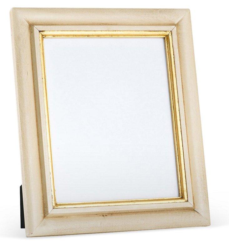 Carved Wood Frame, 4x6, Cream