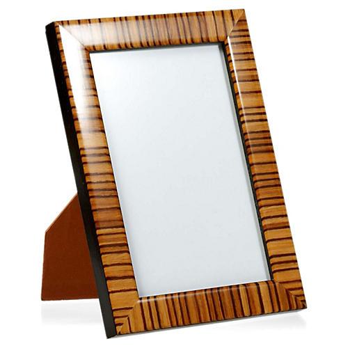 Zebra Frame, 8x10, Tan