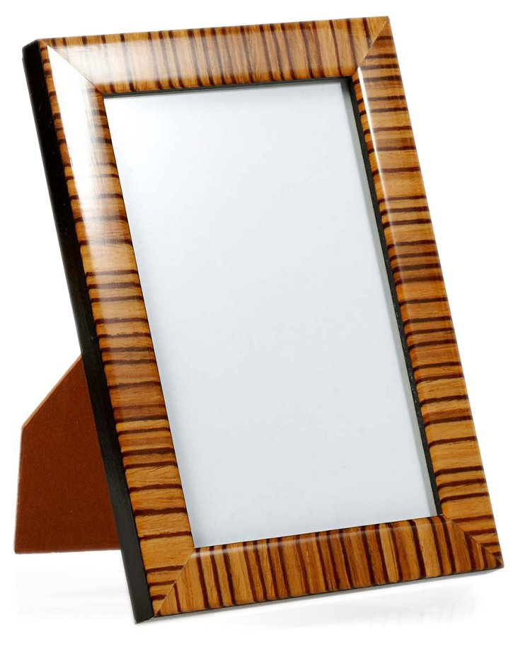 Zebra Frame, 5x7, Tan