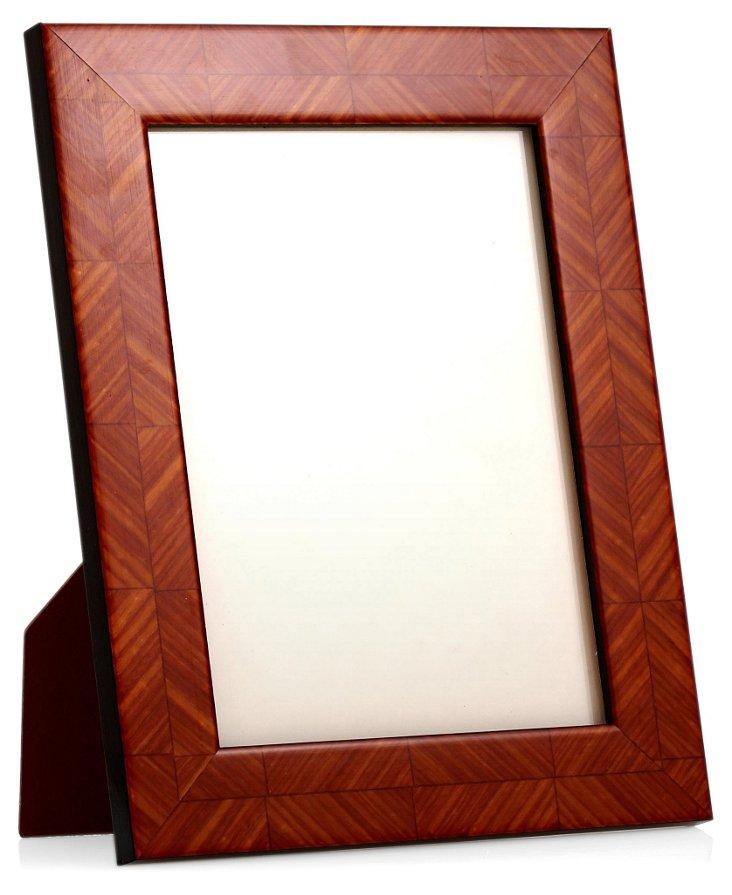 Herringbone Frame, 4x6, Light Brown