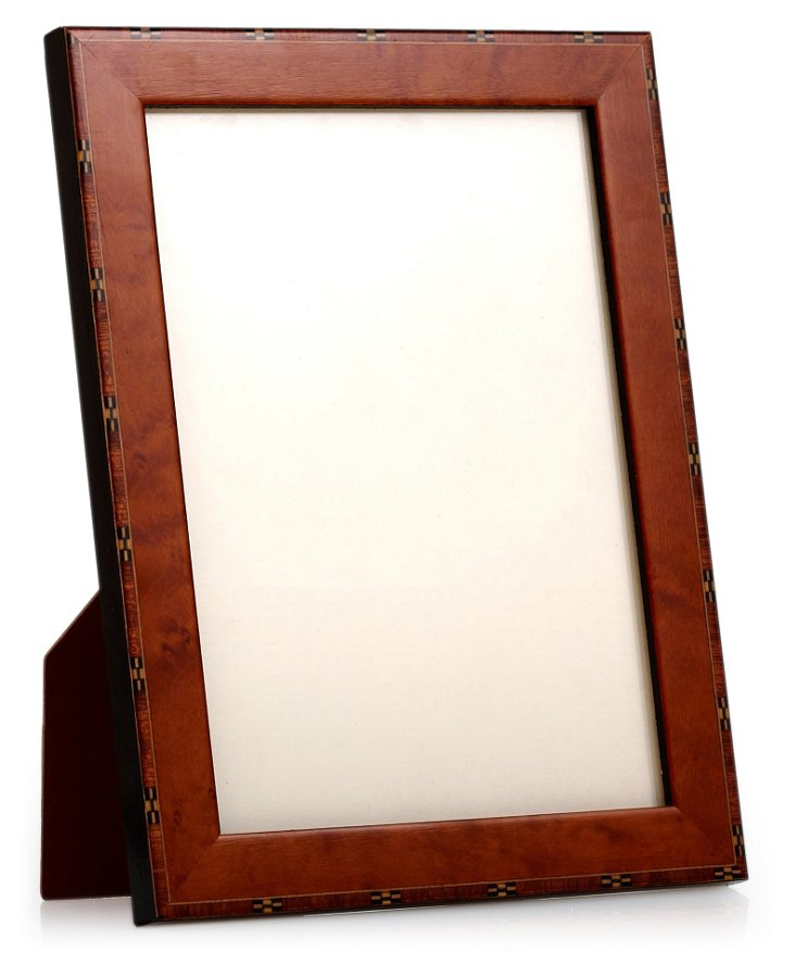 Checkered Edge Frame, 5x7, Brown