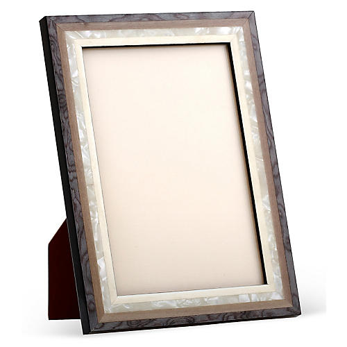 Mother-of-Pearl Frame, 5x7, Gray/White