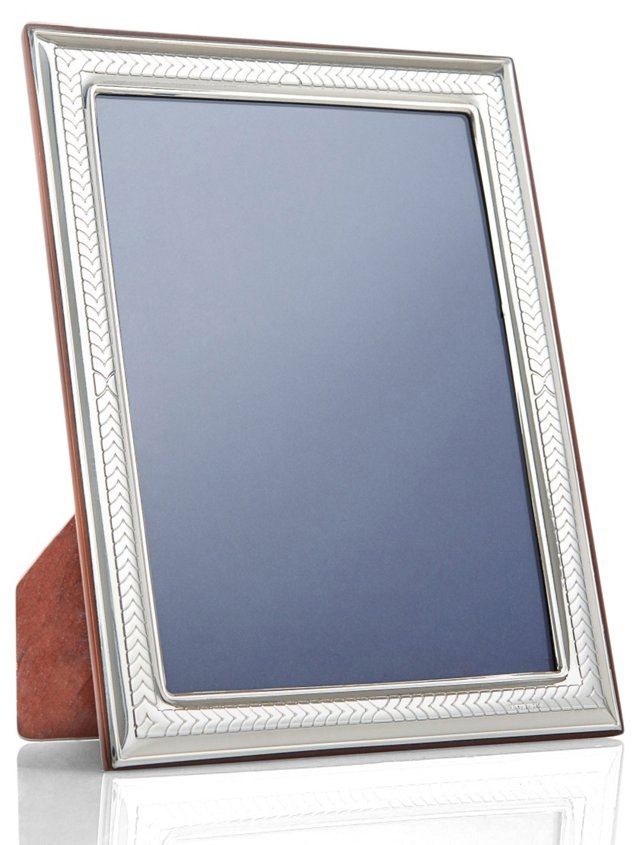 Sterling Silver Chevron Frame, 5x7